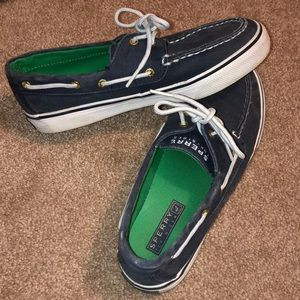 Classic navy sperry sneakers